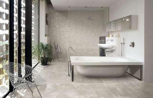 badkamer - betonlook tegels